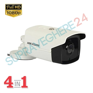 Imaginea Camera Exterior FullHD 1080p, 4 in 1 TVI / CVI / AHD / CVBS, IR 80m, HIKVISION DS-2CE16D0T-IT5F