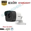 Imaginea Camera exterior FullHD cu PoC (alimentare prin cablu date), STARLIGHT (color noaptea), IR 20m EXIR, Hikvision DS-2CE16D8T-ITE