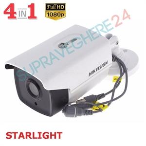 Imaginea Camera Exterior STARLIGHT (color noaptea), 4 in 1 TVI, CVI, AHD, CVBS, 1080p, IR Exir 40m, Hikvision DS-2CE16D8T-IT3F