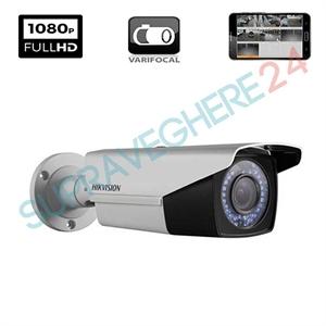 Imaginea Camera Exterior FullHD 1080p, Varifocala, 4 in 1 TVI CVI AHD CVBS, IR 40m, HIKVISION DS-2CE16D0T-VFIR3F
