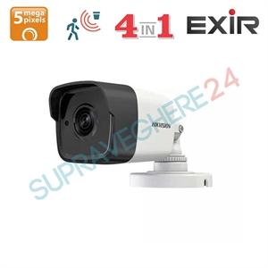Imaginea Camera Exterior 4 in 1 TVI CVI AHD CVBS, 5 Megapixel, TurboHD, 4K Ultra HD, IR Exir 20m, Hikvision DS-2CE16H0T-ITPF
