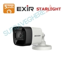 Imaginea Camera de exterior STARLIGHT, 5MP UltraHD, 4 in 1 TVI CVI AHD CVBS, IR Exir 20m, Hikvision DS-2CE16H8T-ITF