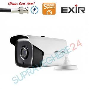 Imaginea Camera de exterior cu PoC (alimentare prin cablu date), 5 Megapixel UltraHD, IR Exir 80m, Hikvision DS-2CE16H0T-IT5E