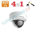 Imaginea Camera Dome Antivandal 4 in 1 TVI CVI AHD CVBS, 5MP Ultra HD, IR 20m, HIKVISION  DS-2CE56H0T-VPITF