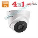 Imaginea Camera Dome 4 in 1 TVI CVI AHD CVBS, 5 megapixel Ultra HD, IR Exir 20m, Hikvision DS-2CE56H0T-ITMF