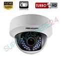Imaginea Camera dome interior, lentila varifocala, FullHD 1080p, IR 30m, Hikvision DS-2CE56D1T-VFIR