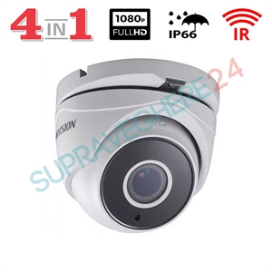 Imaginea Camera dome STARLIGHT, FullHD 1080p, 4 in 1 TVI CVI AHD CVBS, IR 40m, Hikvision DS-2CE56D8T-IT3F