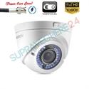 Imaginea Camera dome cu PoC (alimentare prin cablu date), FullHD 1080p, Varifocala, IR 40m, Hikvision DS-2CE56D0T-VFIR3E
