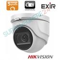 Imaginea Camera dome cu PoC (alimentare prin cablu date), lentila varifocala motorizata, 5MP UltraHD, IR Exir 40m, Hikvision DS-2CE56H0T-IT3ZE