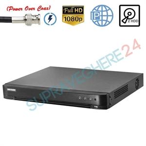 Imaginea DVR TurboHD 8 canale 2 Megapixel 1080p, PoC (alimentare camere din DVR), 2x Slot HDD, Hikvision DS-7208HQHI-K2/P
