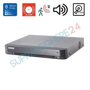 Imaginea DVR TurboHD 8 canale 8 Megapixel, 5 in 1 TVI CVI AHD CVBS IP, 4x Audio, 8x Alarma, 2x slot HDD, Hikvision DS-7208HTHI-K2