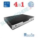 Imaginea DVR / NVR Hibrid 4 canale 4 Megapixel, 5 in 1 TVI CVI AHD CVBS IP, 4x Audio, 4x Alarma, Envio ESS4M04-NRT