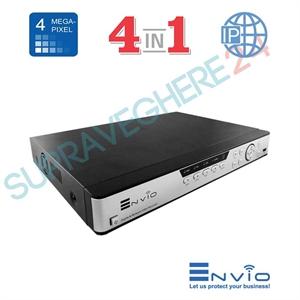 Imaginea DVR / NVR Hibrid 16 canale 4 Megapixel, 5 in 1 TVI CVI AHD CVBS IP, 2x Audio, 2x HDD, Envio ESS4M16-NRT
