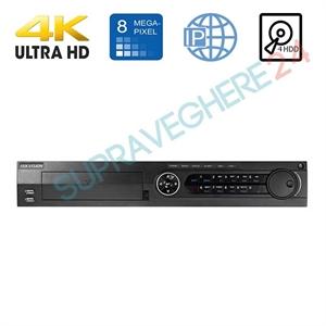 Imaginea DVR / NVR 16 canale 4K 8 Megapixel, 5 in 1 TVI CVI AHD CVBS IP, 4x Audio, 16x Alarma, 4x Slot HDD, Hikvision DS-7316HUHI-K4