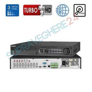 Imaginea DVR / NVR 16 canale 5 in 1 TVI CVI AHD CVBS IP, 4x Audio, 16x Alarma, 4x Slot HDD, Hikvision DS-7316HQHI-K4