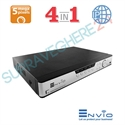 Imaginea DVR / NVR Hibrid 4 canale 5 Megapixel, 5 in 1 TVI CVI AHD CVBS IP, 4x Audio, 4x Alarma, Envio ESS5M04-NRT