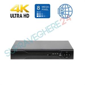 Imaginea DVR / NVR Hibrid 4 canale 4K 8 Megapixel, 5 in 1 TVI CVI AHD CVBS IP, 4x Audio, 4x Alarma, Envio AGL2-804