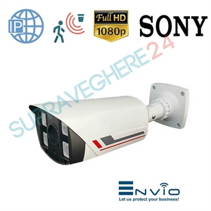 Imaginea Camera IP FullHD 1080p, Exterior, IR EXIR 80m, Detectie Inteligenta, PoE, Sony Envio IESS-BFM90SF200