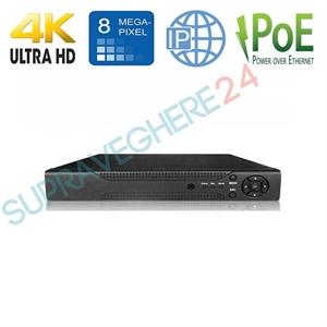 Imaginea NVR 4 canale IP PoE 4K UltraHD, 8 Megapixel per canal, ONVIF, Envio ESS4P