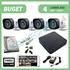 Imaginea Kit supraveghere video complet cu 4 camere FullHD, 2 megapixel, HDD 1TB, DVR, accesorii, configurare inclusa