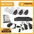 Imaginea Kit supraveghere video Full HD complet cu 3 camere AHD Sony Envio 1080p, DVR, HDD, accesorii, configurare inclusa