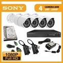 Imaginea Kit supraveghere video Full HD complet cu 4 camere AHD Sony Envio 1080p, DVR, HDD, accesorii, configurare inclusa