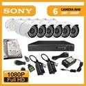 Imaginea Kit supraveghere video Full HD complet cu 6 camere AHD Sony Envio 1080p, DVR, HDD, accesorii, configurare inclusa