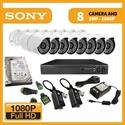 Imaginea Kit supraveghere video Full HD complet cu 8 camere AHD Sony Envio 1080p, DVR, HDD, accesorii, configurare inclusa