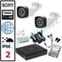 Imaginea Kit Supraveghere IP complet cu 2 Camere FullHD 2 Megapixel, NVR, HDD 1TB, Switch, Accesorii, Configurare inclusa