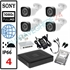 Imaginea Kit Supraveghere IP complet cu 4 Camere FullHD 2 Megapixel, NVR, HDD 1TB, Switch, Accesorii, Configurare inclusa