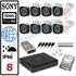 Imaginea Kit Supraveghere IP complet cu 8 Camere FullHD 2 Megapixel, NVR, HDD 1TB, Switch, Accesorii, Configurare inclusa