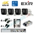 Imaginea Kit supraveghere 4K - 8 Megapixel Hikvision complet cu 4 camere 8MP, DVR, HDD 1TB, accesorii, configurare gratuita
