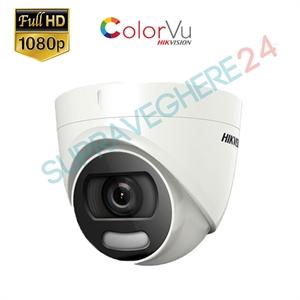 Imaginea Camera color noaptea ColorVu, FullHD 2 Megapixel, iluminare LED 20m, Hikvision DS-2CE72DFT-F