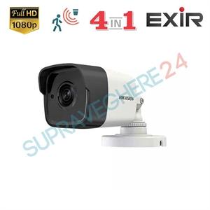 Imaginea Camera Exterior 4 in 1 TVI CVI AHD CVBS, 2 Megapixel, 1080p, carcasa metalica, IR Exir 30m, Hikvision DS-2CE16D0T-ITF