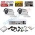 Imaginea Kit supraveghere video CCTV Hikvision cu HDD 1TB, 2 camere 1080p, accesorii, configurare inclusa