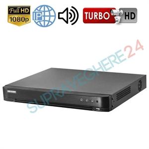 Imaginea DVR 8 canale 2 Megapixel 1080p, Audio Over Coax, 5 in 1 TVI CVI AHD CVBS IP, Hikvision DS-7208HQHI-K1(S)