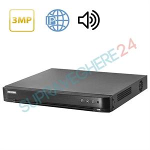 Imaginea DVR 16 canale 2 Megapixel 1080p, Audio Over Coax, 5 in 1 TVI CVI AHD CVBS IP, Hikvision DS-7216HQHI-K1(S)