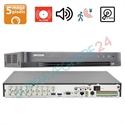 Imaginea DVR 16 canale 5 Megapixel cu Audio Over Coax, TVI CVI AHD CVBS IP, 4x RCA, 8x Alarma, 2x HDD, Hikvision DS-7216HUHI-K2(S)