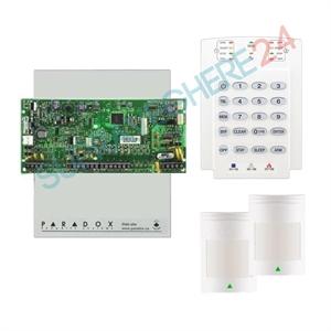 Imaginea Centrala alarma 4 zone pe fir Paradox SP4000 cu tastatura K10, 2xPIR 476+, cutie, traf
