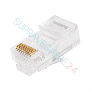 Imaginea Mufa RJ45 din plastic pentru cablu UTP / FTP