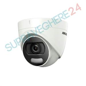 Imaginea Camera color noaptea ColorVu, UltraHD 5 Megapixel, iluminare LED 20m, Hikvision DS-2CE72HFT-F