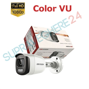 Imaginea Camera exterior color noaptea ColorVu, FullHD 2 megapixel, iluminare LED 20m, Hikvision DS-2CE10DFT-F28