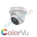 Imaginea Camera IP dome color noaptea ColorVu, 4 Megapixel, Iluminare LED 30m, audio, Hikvision DS-2CD2347G1-LU