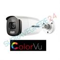 Imaginea Camera exterior color noaptea ColorVu, 2 megapixel, sirena si flash, iluminare LED 40m, Hikvision DS-2CE12DFT-PIRXOF