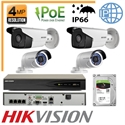 Imaginea Kit Complet IP PoE - 4 Camere IP Hikvision 4 Megapixel, NVR 4 canale PoE si HDD 1TB, configurare