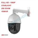 Imaginea Speed Dome Hikvision TurboHD Starlight DS-2AE5225TI-A cu suport DS-1602ZJ, exterior, 2 Megapixel FullHD, 25x zoom, IR 150m