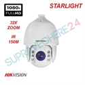 Imaginea Speed Dome Profesional Hikvision TurboHD Starlight DS-2AE7232TI-A cu suport DS-1602ZJ, exterior, 2 Megapixel FullHD, 32x zoom, IR 150m