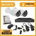 Imaginea Kit supraveghere video Full HD complet cu 2 camere AHD Sony Envio 1080p, DVR, HDD, accesorii, configurare inclusa